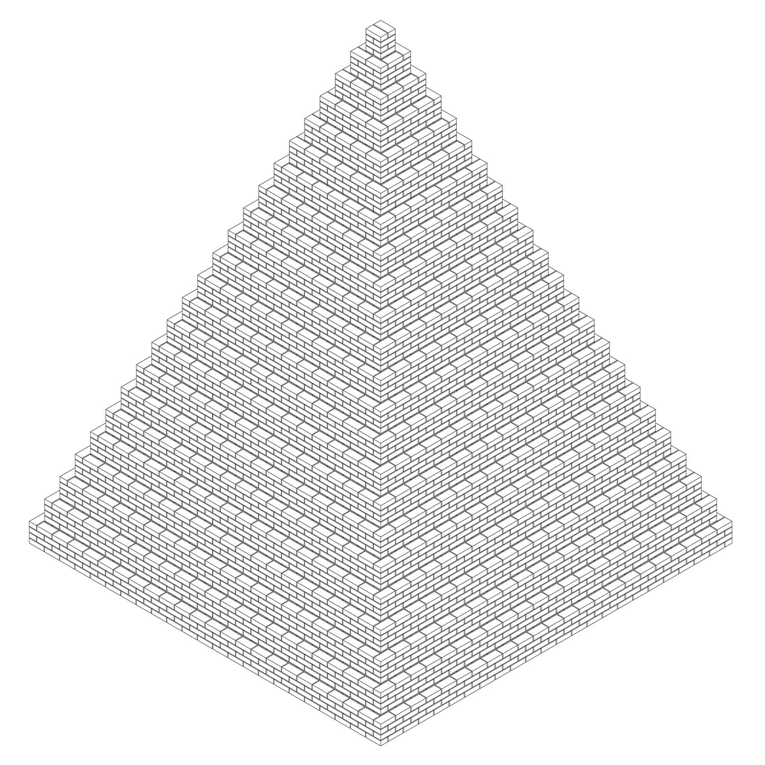 The People's Pyramid Isometric drawing